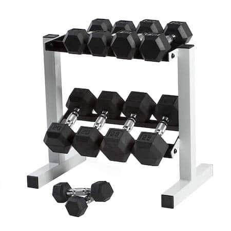 Rack of Cap Barbells weights