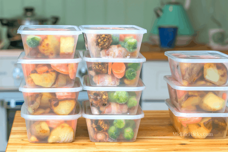 Food portions in tupperware