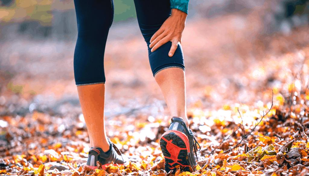 runner needing the best calf and foot massager massage