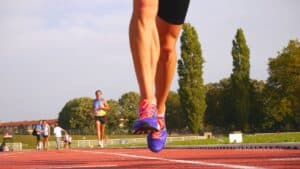 Best cushioned shoes on runner on athletics track